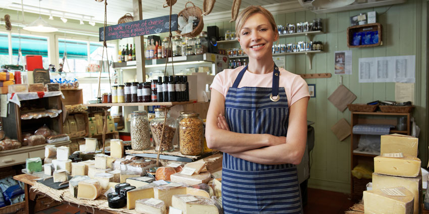 Specialty food store owner